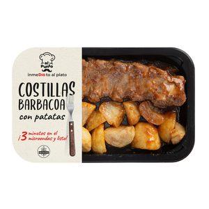 DIA AL PUNTO costillas de cerdo a la barbacoa con patatas bandeja 400 gr