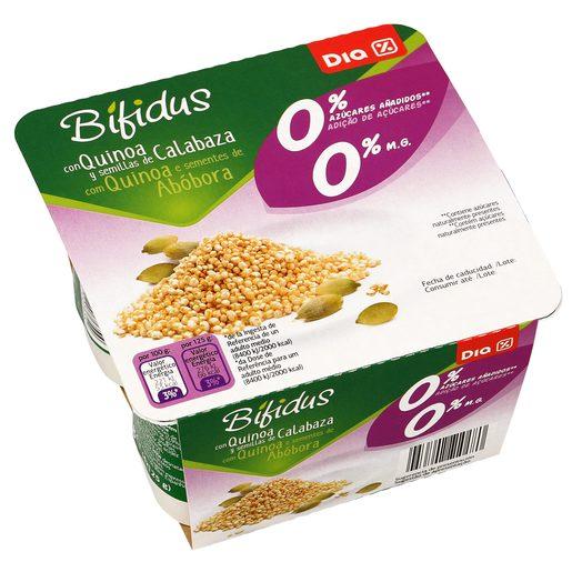 DIA bífidus con quinoa y semillas de calabaza 0% M.G pack 4 unidades 125 gr