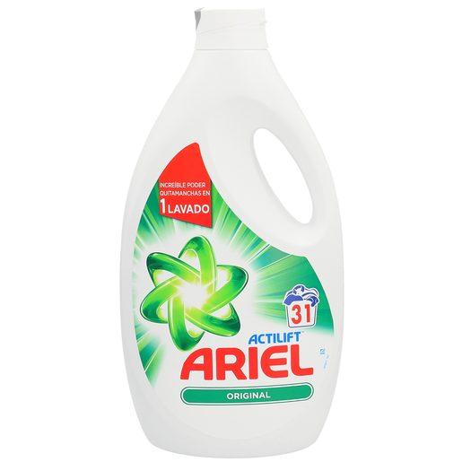 ARIEL Actilift detergente máquina líquido concentrado botella 31 lv