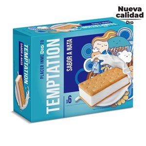 DIA TEMPTATION helado sandwich de nata caja 6 uds 300 gr