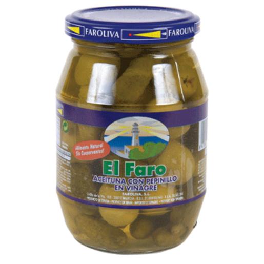 EL FARO aceitun con pepinill FRASCO 180GR