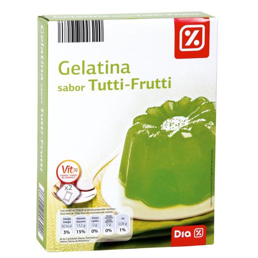DIA gelatina sabor tutti frutti 2 sobres estuche 170 grs