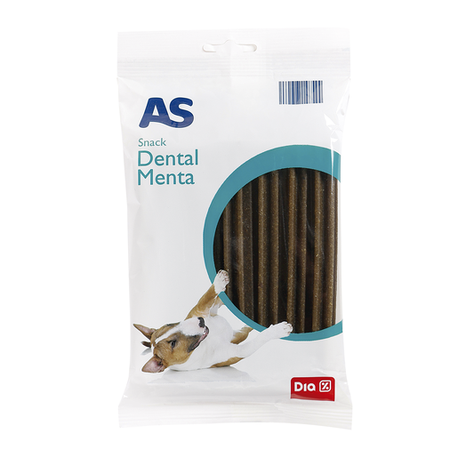 AS snack para perros dental menta bolsa 180 gr