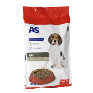 AS alimento para perros completo con buey bolsa 10 Kg