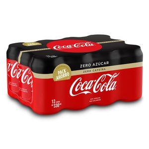 COCA COLA zero zero pack 12 latas 33 cl