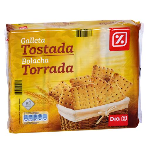 DIA galletas tostadas 4 paquetes x 200 grs envase 800 grs