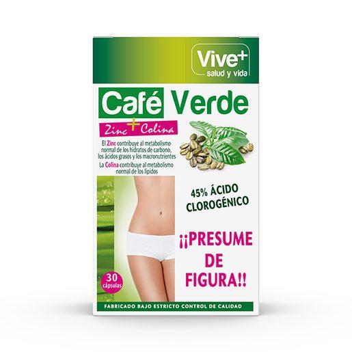 VIVE+ SALUDYVIDA café verde zinc + colina caja 30 cápsulas