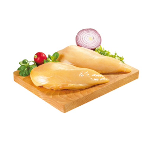 Filetes de pechuga de pollo amarillo bandeja (peso aprox 650 gr)