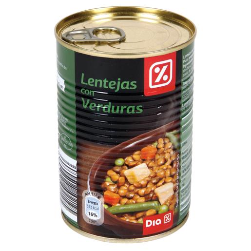 DIA lentejas con verduras lata 415 gr
