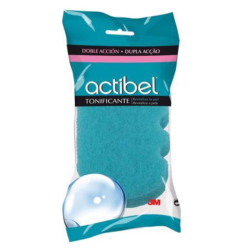 ACTIBEL esponja de baño doble accion tonificante bolsa 1 ud
