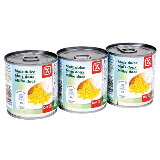 DIA maíz dulce pack 3 latas 140 gr