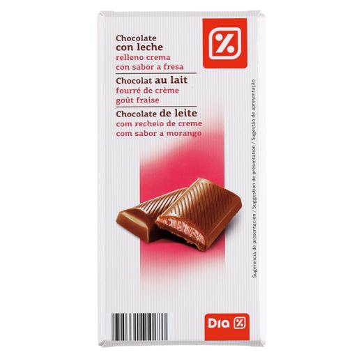 DIA chocolate con leche relleno fresa tableta 100 gr