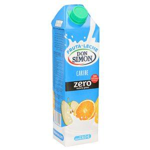 DON SIMON Funciona bebida de frutas con leche caribe zero envase 1 lt