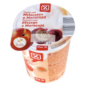 DIA yogur con melocotón y maracuya vaso 200 gr