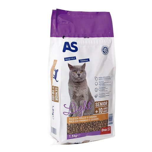 AS alimento para gatos senior bolsa 1,5 Kg