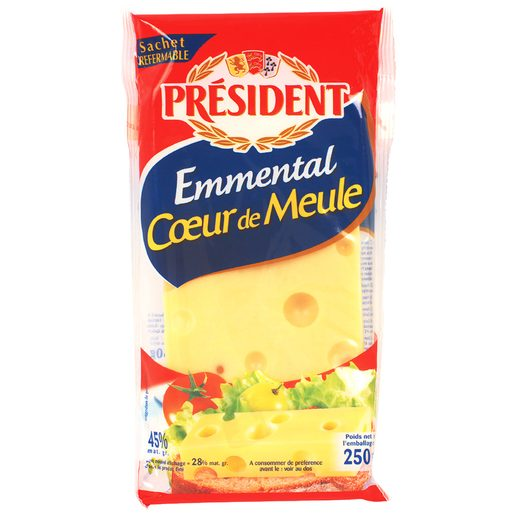 PRESIDENT queso emmental envase 250 gr