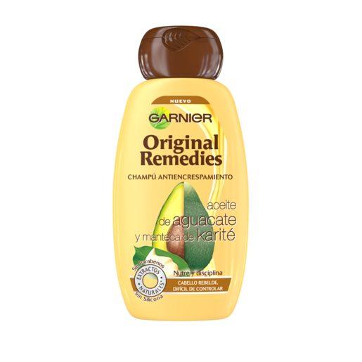 ORIGINAL REMEDIES champú aceite de aguacate/manteca de karité frasco 250 ml
