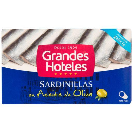 GRANDES HOTELES sardinillas en aceite de oliva lata 62 grs