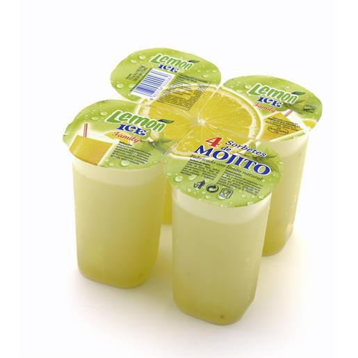 LEMON ICE granizado de mojito 4 vasos 800 ml