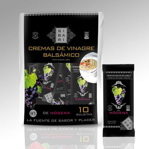 SIBARI cremas de vinagre balsámicos de modena bolsa 10 uds 200 gr