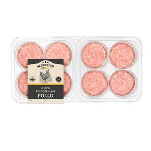 SELECCIÓN DE DIA mini hamburguesas de pollo bandeja 8 uds 280 gr