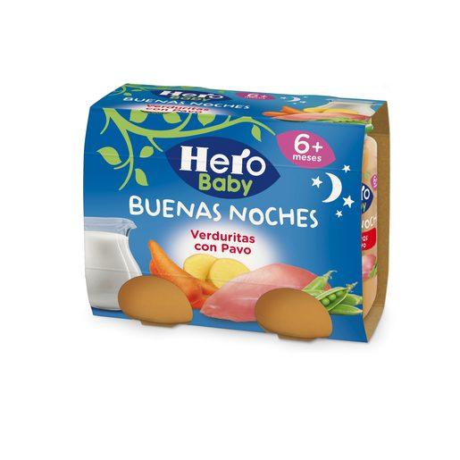HERO Baby buenas noches verduritas con pavo tarrito 2x190 gr
