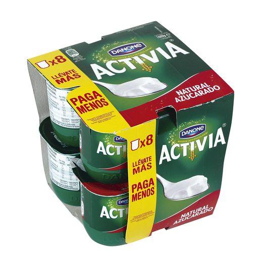 DANONE ACTIVIA yogur natural azucarado pack 8 unidades 125 gr