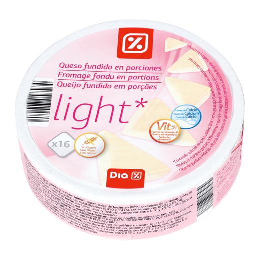 DIA queso fundido light 16 porciones caja 250 g