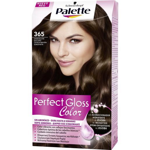 PALETTE PERFECT GLOSS tinte Chocolate Oscuro Nº 365 caja 1 ud
