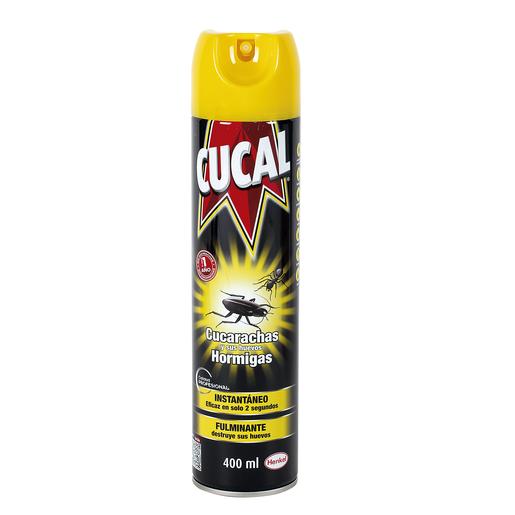 CUCAL insecticida concentrado cucarachicida spray 400 ml