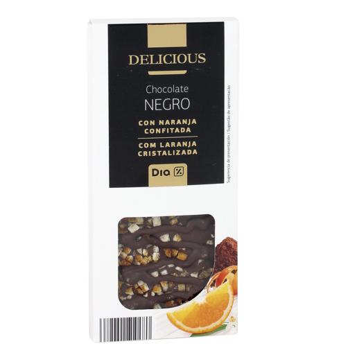 DIA DELICIOUS chocolate negro con naranja confitada tableta 120 gr