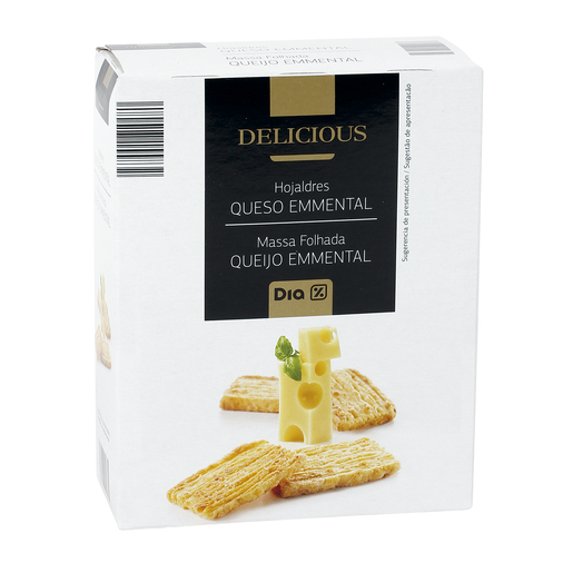 DIA DELICIOUS hojaldres queso emmental caja 70 gr