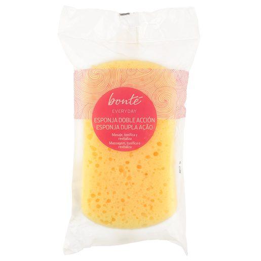 BONTE esponja de baño doble accion  bolsa 1 ud