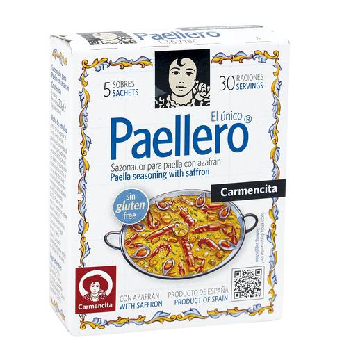 CARMENCITA paellero sazonador para paella con azafrán caja 20 gr