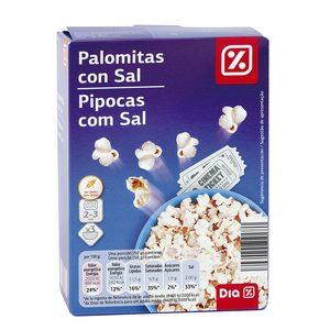 DIA palomitas con sal para microondas caja 300 gr
