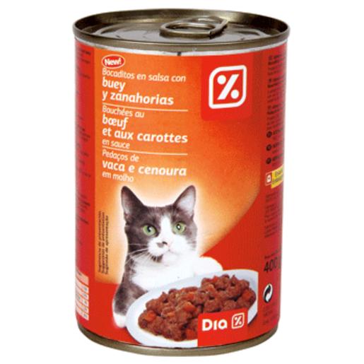 DIA alimento  para gatos bocaditos buey y legumbres lata 400 gr