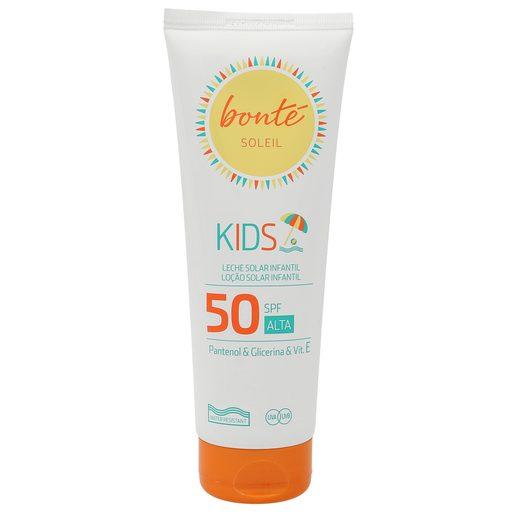 BONTE leche solar infantil protección alta 50 spf tubo 250 ml