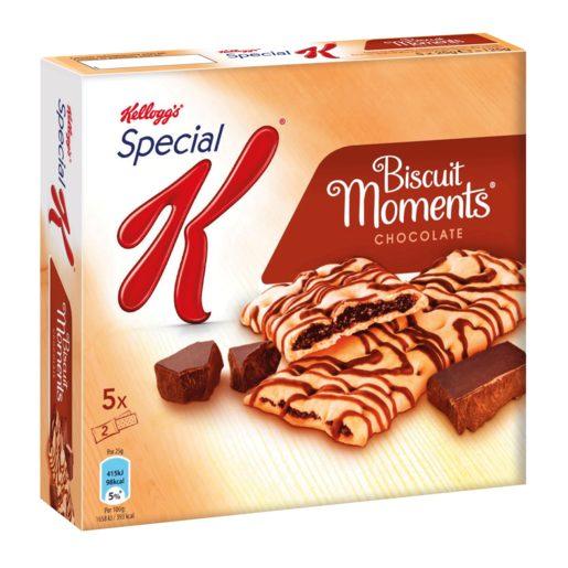 KELLOGGS barritas de cereales special K biscuit moments choc estuche 125 g