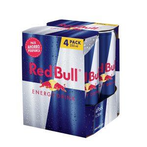 RED BULL bebida energética pack 4 latas 25 cl