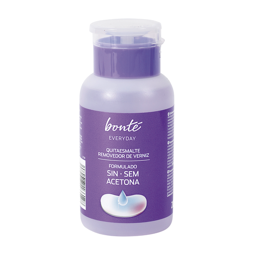 BONTE quitaesmalte sin acetona dosificador 200 ml