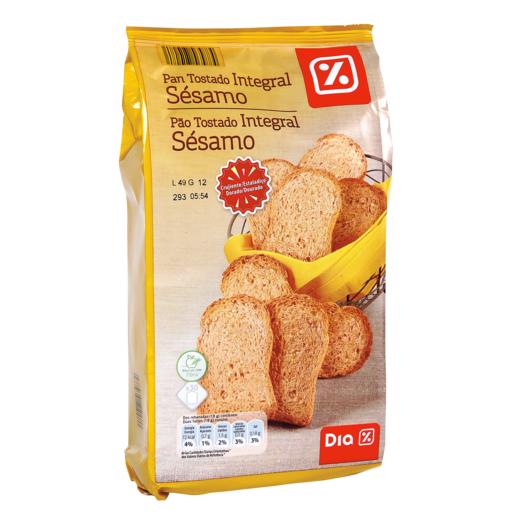 DIA VITAL pan tostado integral con sesamo paquete 270 gr