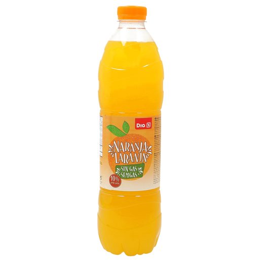 DIA refresco sin gas naranja botella 1.5 lt