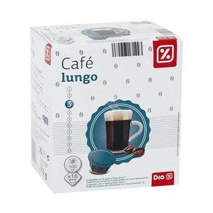 DIA café lungo 16 cápsulas caja 112 gr