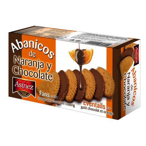 ASINEZ galletas abánicos de chocolate y naranja caja 180 gr