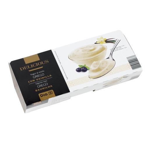 DIA DELICIOUS yogur griego con vainilla pack 2 unidades 125 gr