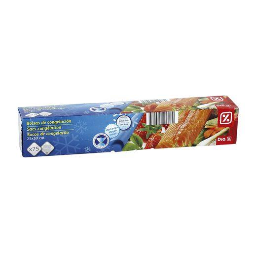 DIA bolsas de congelación medianas 25x30 cm paquete 75 uds