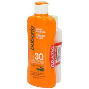 BABARIA pack leche protectora solar spf 30 + bálsamo after sun calmante 100 ml