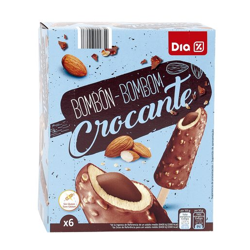 DIA helado bombón crocante 6 uds caja 300 gr