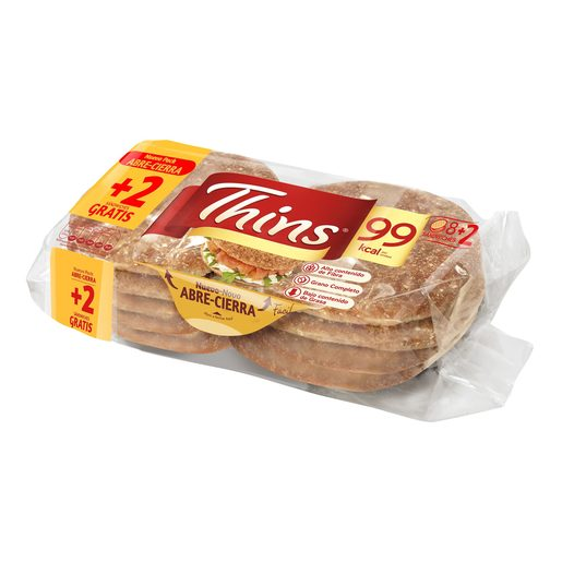 THINS pan para sandwich 100% integral bolsa 310 gr