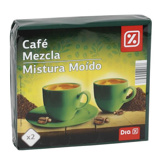 DIA café molido mezcla natural paquete 2 x 250 gr